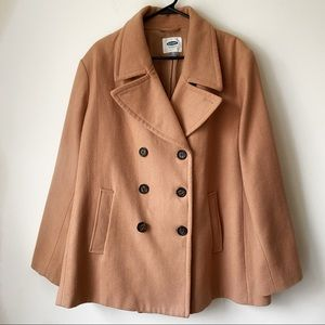 Old Navy Wool Pea Coat Double Breasted Winter XXL
